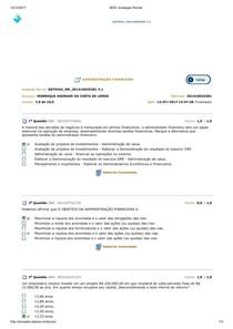 ADMINITRAÇÃO FINANCEIRA AV2