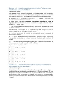 APOL   LNGUAESTRANGEIRA MODERNA INGLES FUNDAMENTOS E METODOLOGIAS NA EDUCACAO BASICA