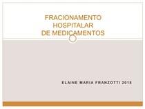 AULA 5 - FRACIONAMENTO DE MEDICAMENTOS