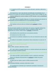 Planejamento Nutricional - Atividade 3 UNINGÁ