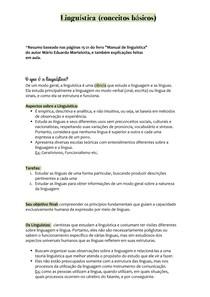 Linguística (conceitos básicos)