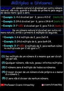 Múltiplos e Divisores_Resumo