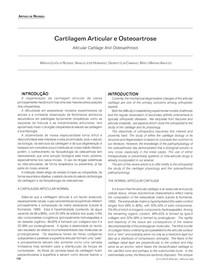 Cartilagem Articular e Osteoartrose