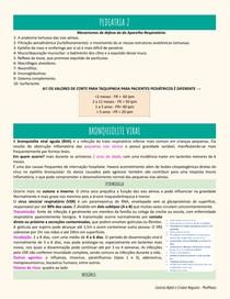 Pediatria 2 - pneumonia e bronquite