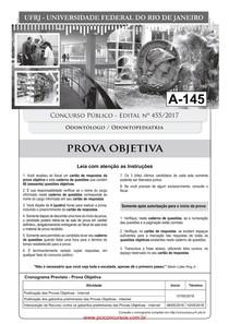 PROVA odontologo_odontopediatria UFRJ - 2018