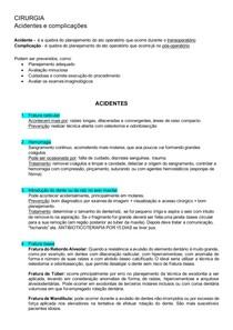 CIRURGIA - acidentes e complicações