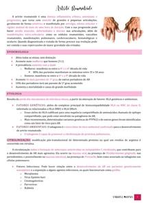 Módulo I - tutoria 3 - Artrite Reumatoide