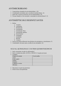 ANTIMICROBIANO- QUESTOES RELEVANTES