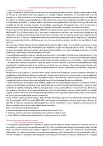 - PROLIFERAÇÃO-Assistência à saúde de paciente com câncer de colo de útero