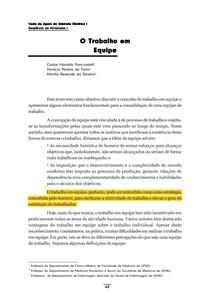 TEXTO   O trabalho em equipe   PIANCASTELLE   SILVEIRA   FARIAS