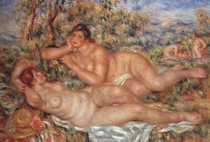 Pierre Auguste Renoir  - Bathers-Sleeping