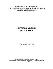 Nutricao mineral de plantas