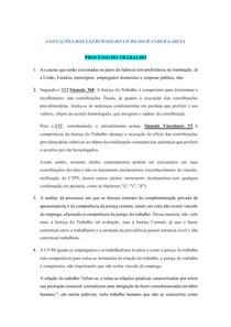 ANOTAÇÕES DOS EXERCÍCIOS DE PROCESSO DO TRABALHO - OAB 2019