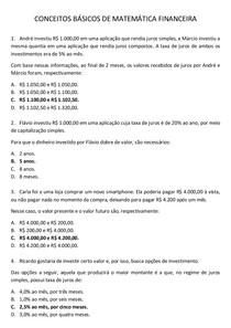 CONCEITOS BÁSICOS DE MATEMÁTICA FINANCEIRA