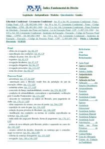 DJi - Liberdade Condicional - Livramento Condicional