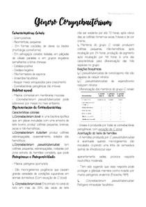Resumo Corynebacterium