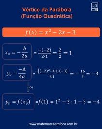 Função Quadrática: dica para descobrir as coordenadas do vértice da parábola!