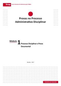 Módulo 1   Processo Disciplinar e Prova Documental