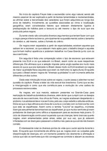 Resumo cap. 4 Gilberto Freyre - Casa Grande e Senzala