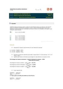 PRINCÍPIOS DE QUÍMICA BIOLÓGICA RESPOSTA 06 A 10