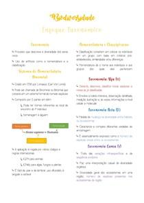 Resumo Enfoque Taxonômico - Biodiversidade