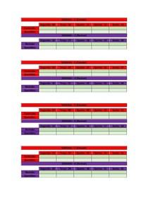 Cronograma para organizar revisões semanais