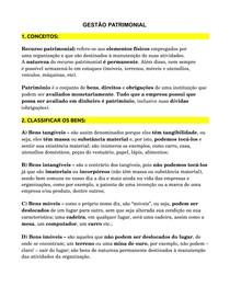 GESTÃO PATRIMONIAL PARA CONCURSOS