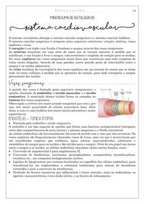 Histologia do sistema cardiovascular (mini resumo)