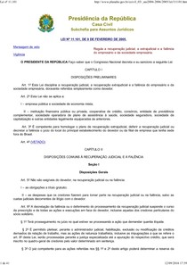 Lei nº 11101 atualizada