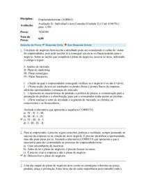 Avaliação II   Individual e sem Consulta (Unidade 2)