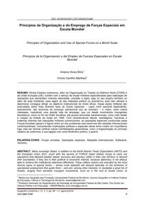 Princípios da organização e do emprego de Forças Especiais em escala mundial