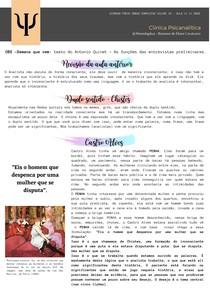 FREUD - LACAN - PSICANÁLISE - RESUMO - DISCURSO DA HISTÉRICA - DISCURSO DO MESTRE