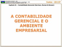 Capitulo 01 - A Contabilidade Gerencial e o Ambiente Empresarial