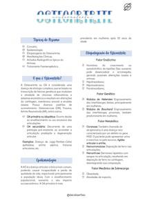 Osteoartrite (Resumo)