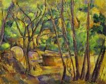 Paul Paul Cézanne - Well Millstone and Cistern Under Trees