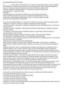 ORGANIZAÇÃO DE POLÍTICA DA SAÚDE