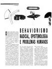 Behaviorismo radical, epistemologia e problemas humanos