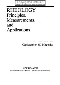 Macosko, Christopher W - Rheology - Principles, Measurements and Applications-John Wiley & Sons (1994)