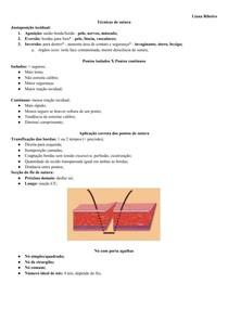 Técnicas de sutura - resumo