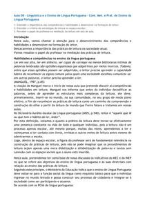 Aula 08  Lingustica e o Ensino de Lngua Portuguesa  Cont. Met. e Prat. de Ensino da Lngua Portuguesa
