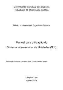 Manual do Sistema Internacional de Unidades (SI)