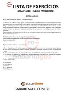 EXERCÍCIOS RESOLVIDOS BRASIL COLÔNIA - 02