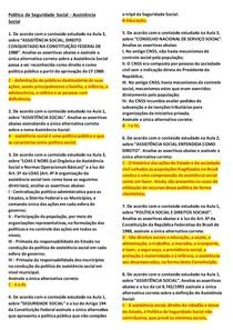 POLÍTICA DE SEGURIDADE - ASSIS SOCIAL