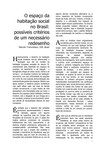 O espaço da habitação social no Brasil possíveis critérios de um necessário redesenho   M Tramontano