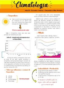 Aula 03 - Elementos climáticos - Temperatura e Meio Ambiente