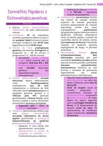 Dermatites Papulares e Eritematodescamativas