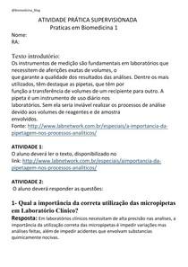 APS Praticas em Biomedicina 1