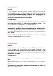 DISCURSIVAS FINAIS DE GESTÃO FINANCEIRA