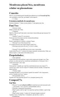 Membrana plasmática, membrana celular ou plasmalema