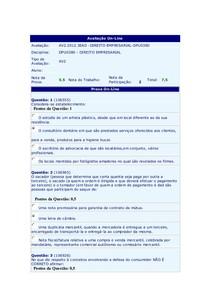 AV2 - Direto Empresarial
